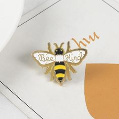 """""""Bee Kind"""" Jewelry Party, Jewelry Gifts, Jewellery, Different Bees, Pet Spider, Brooch Corsage, Cute Bee, Halloween Jewelry, Save The Bees"""