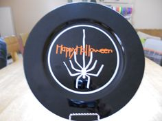 Halloween Vinyl Plate