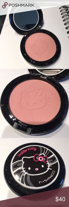 MAC Hello Kitty Beauty Powder in Pretty Baby Limited edition. Brand new, never used. Box not included. View my other items, getting rid of my make up collection! Make me an offer (please NO lowball offers!) or purchase multiple for bigger discount! MAC Cosmetics Makeup Face Powder