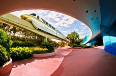 The Monorail in Epcot - Disney World