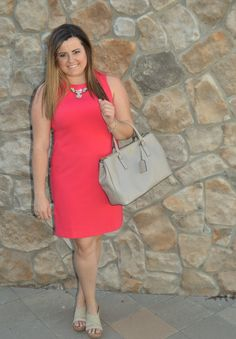 Looking for the perfect work dress? This Coral Cynthia Rowley dress is just what you need.