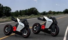 Shavit morphing e-bike (video)       The Shavit electric sport motorcycle byEyal Melnick, features a very unique riding position system that makes shifting from everyday upright stance to racetrack oriented lean as easy as the push of a button.      Handlebars, footpads, and seat height can be adjusted independently, allowing the bike to morph from racing superbike to urban tourer. Emphasizing the lack of a bulky fuel tank...