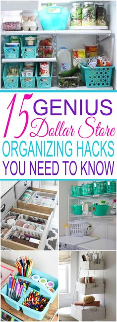 15 Dollar Store Organization Ideas For Every Area In Your Home 15 Genius Dollar Store Organizing Hacks You Need To Know. Organize your entire home with just one trip to the dollar store! Declutter your home on a small budget. From the bathroom and bedroom Organizing Hacks, Budget Organization, Organizing Your Home, Makeup Organization, Organization Store, Closet Organisation, Budget Storage, Makeup Storage, Organizing A Small Bathroom
