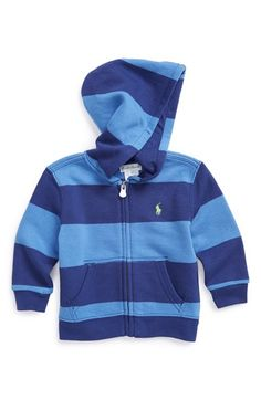 Ralph Lauren Stripe Hoodie (Baby Boys) available at #Nordstrom