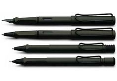Sharp Black LAMY Safari Fountain, Ballpoint and Rollerball Pens