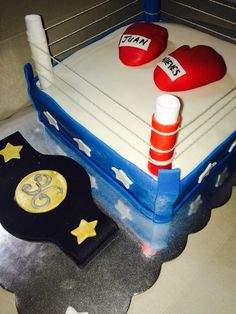 Boxing Ring Cake ~ Made by Lali #Lalicakes