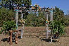 Weddong Arch built and decorated by Carol Argo Denmark