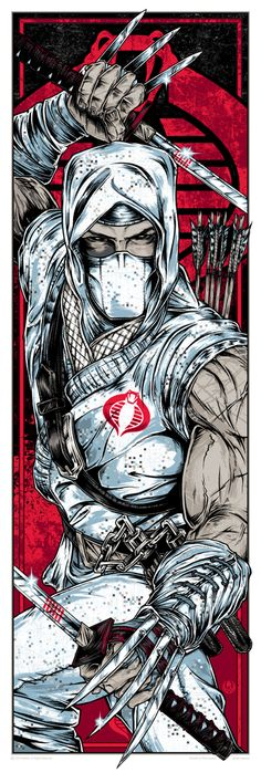 """Cobra Commander"" and ""Storm Shadow"" G. Joe Prints by Rhys Cooper (Onsale Info) - OMG Posters! Thundercats, Gi Joe, Comic Books Art, Comic Art, Rhys Cooper, Comic Character, Character Design, Science Fiction, Shadow Warrior"