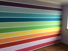 Frog tape, 12 tester pots one rainbow wall complete