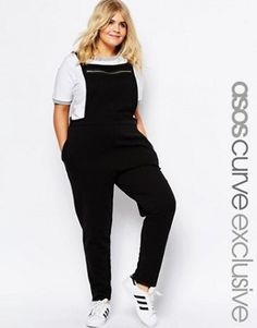 594a6f43ce2 ASOS CURVE Dungaree Jumpsuit in Sweat with Zip Fronit Fashionable Plus Size  Clothing