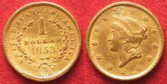 1853 Vereinigte Staaten von Amerika USA 1 Dollar 1853 Gold SELTEN!!! # 36778…