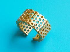 gold honeycomb ring