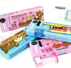 Rilakkuma may be known for being lazy, but with this pencil case, Rilakkuma is willing to help you find your way home! Think of this automatic pencil case as the ultimate survival tool in and out of school. Stationary School, Cute Stationary, Rilakkuma, Cool School Supplies, School Suplies, Kawaii Stationery, Pencil Boxes, Idee Diy, Too Cool For School