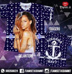 Camiseta Rihanna Navy  https://www.facebook.com/CamisetasDamnit/