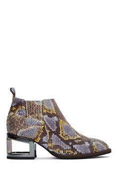 Jeffrey Campbell Metcalf Block Boot - Snake | Shop What's New at Nasty Gal