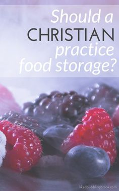 Should a Christian practice food storage? What you should know...