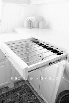 whatkimdoes brilliantly hacked the IKEA Grundtal drying rack as a