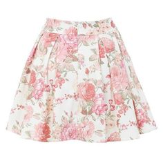Miss Selfridge Floral Print Skater Skirt ❤ liked on Polyvore featuring skirts, floral printed skirt, pink circle skirt, circle skirt, miss selfridge and flared floral skirt