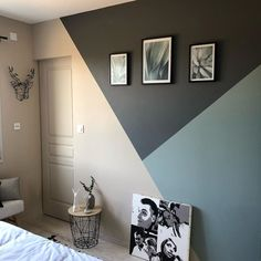 Modern Bedroom Decor, Living Room Decor, Room Wall Painting, Diy Zimmer, Living Room Color Schemes, Room Colors, Bedroom Wall, Girl Room, Wall Design