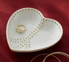 Heart Peace Catchall   Pottery Barn (could diy this?)