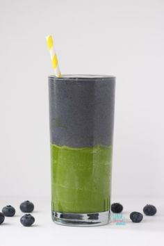 Green Smoothie Recipe -I made one like this but all mixed together for the kids this morning It had blueberries avocado banana amazing grass berry powder and coconut milk Click the image for more info. 10 Day Green Smoothie, Green Smoothie Cleanse, Green Smoothie Recipes, Juice Smoothie, Smoothie Drinks, Protein Smoothies, Yummy Smoothies, Yummy Drinks, Healthy Drinks
