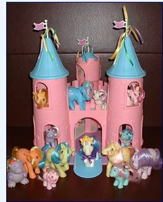So many ponies! Unicorn Ponies, Pegasus Ponies, Sea Ponies which looked like seahorses that you could take in the tub and would squirt water, Rainbow Ponies with rainbow hair, Twinkle-eyed Ponies with jewels in their eyes, So Soft Ponies that were fuzzy, Flutter Ponies with iridescent wings, and Baby Ponies that were identical miniature versions of their mothers.