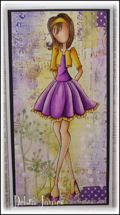 BY DEBRA JAMES - LOVE THE COLORS AND, OF COURSE, THE JULIE NUTTING STAMPS.