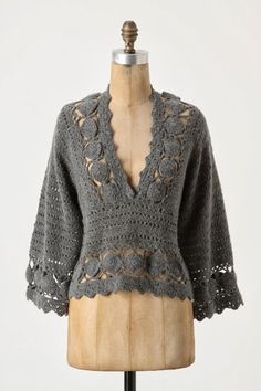 Pullover, free crochet pattern ceruleana ༺✿ƬⱤღ http://www.pinterest.com/teretegui/✿༻