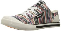 Rocket Dog Womens Jazzin Roads Cotton Fashion Sneaker Natural Multi 8 M US >>> Want additional info? Click on the image.