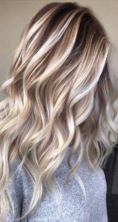 Curly Highlighted Hair
