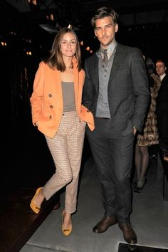 Olivia Palermo & Johannes Huebl- well he is very McDreamy and stylish. Interesting sweater collar choice with that suit.