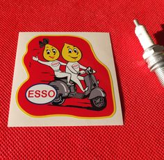 ESSO Vespa CLASSIC RACE RALLY RETRO sticker Aufkleber autocollant #stickerAufkleberautocollant