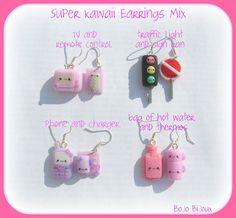 Super Kawaii Mix Earrings by Bojo-Bijoux.deviantart.com on @deviantART