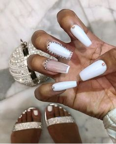 In seek out some nail designs and some ideas for your nails? Here's our listing of must-try coffin acrylic nails for stylish women. Acrylic Nails Natural, Bling Acrylic Nails, Acrylic Nails Coffin Short, Square Acrylic Nails, White Acrylic Nails, Summer Acrylic Nails, Best Acrylic Nails, Bling Nails, Pastel Nails