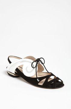 Nicholas Kirkwood 'Swirl' Flat Sandal available at Nordstrom