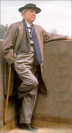 Frank Lloyd Wright - one of my heroes.