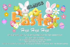 Easter Egg Hunt Party Invitations ALL COLORS - Digital Download - Get these invitations RIGHT NOW. Design yourself online, download and print IMMEDIATELY! Or choose my printing services. No software download is required. Free to try! Easter Invitations, Diy Invitations, Easter Celebration, Egg Hunt, Easter Ideas, Some Fun, Printing Services, Fun Activities, All The Colors