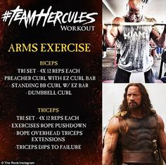 No pain, no gain! His arms workout features plenty of volume and burn, he tells his followers to 'enjoy the pain'