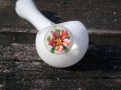 Glass Pipe -Flower Marble Frit Spoon. $26.00, via Etsy.