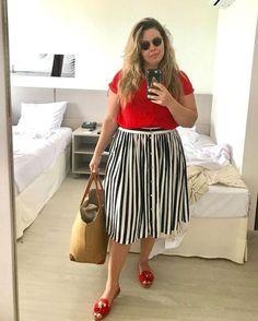 Fluvia Lacerda Plus Size Fashion for Women - Women Plus Size Shirts - Ideas of Women Plus Size Shirts Look Plus Size, Plus Size Summer, Plus Size Model, Mode Outfits, Fashion Outfits, Summer Fashion Trends, Fashion Ideas, Fashion Quotes, Plus Size Bikini