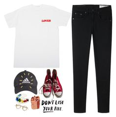 """i sing for love, i sing for me"" by f-lowerbreath ❤ liked on Polyvore featuring rag & bone, adidas, Converse and Yuki"