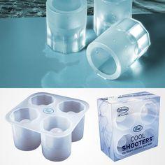 ice cube shot glasses.