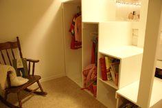 Great idea for loft bed step storage Loft Beds, Bunk Beds, Bed Steps, Boy Room, Kids Bedroom, Bedroom Ideas, My Dream Home, Ladder, Tiny House