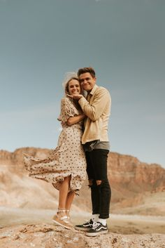 Desert Under Canvas Zion National Park Utah Couples Anniversary Session // Direct Sunlight Engagement Photo Outfits, Engagement Photo Inspiration, Engagement Couple, Engagement Session, Couple Style, Couple Goals, Couple Posing, Couple Shoot, Couple Photography