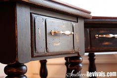 Vintage Pine End Tables Get A Makeover An End Table Revival - Southern Revivals