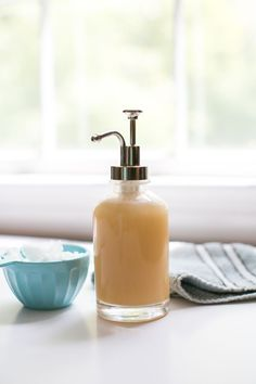 Homemade Body Wash with Honey Coconut Oil