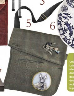 Upcycled suit purse>>Marie Claire Idees