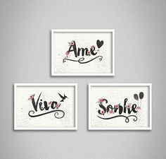 Wall Painting Decor, Calligraphy Name, Quilling, Projects To Try, Gallery Wall, Lettering, Simple, Frame, Illustration