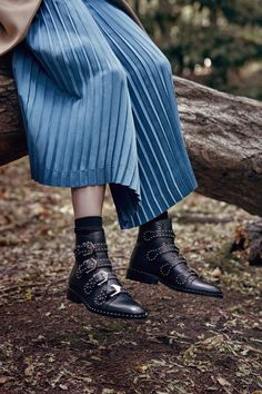 Military-inspired detailing, chunky block heels and a tough-luxe attitude make the grade when it comes to boots this season. Our hero pair comes from Givenchy – the silver buckles, bountiful studs and slim ankle proportions are perfectly in step with fashion's grown-up rebel mood. Valentino, Tod's and Steve Madden offer more rock-chic options.