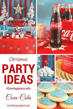 Christmas Party Ideas by Michelle's Party Plan-It #GiveHappiness with @cocacola and spend less time cooking this holiday season! AD